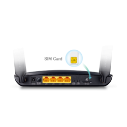 4G/LTE bredbåndsrouter med integreret modem til SIM-kort