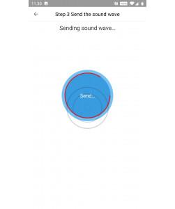 """Sender """"konfigurationslyde"""" fra mobil til kamera"""